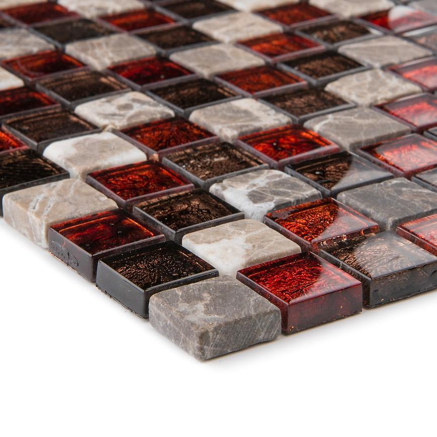 Mozaika metalica marmor Marron emperador 57245 30x30x0,8