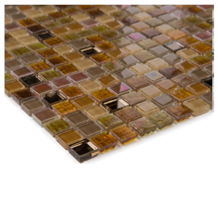 Mozaika perlmutt amber braun 66353 30x30x0,4