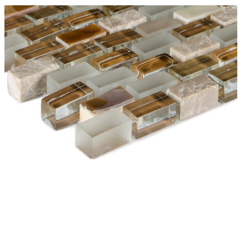 Mozaika 5th Avenue brown mix Seashell 78417 28,5x28,5x0,8