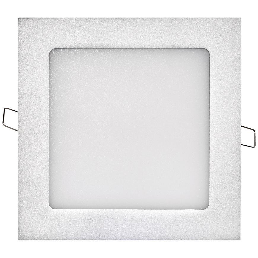 LED panel 170x170, čtvercový vestavný stříbrný, 12W neutr.b.