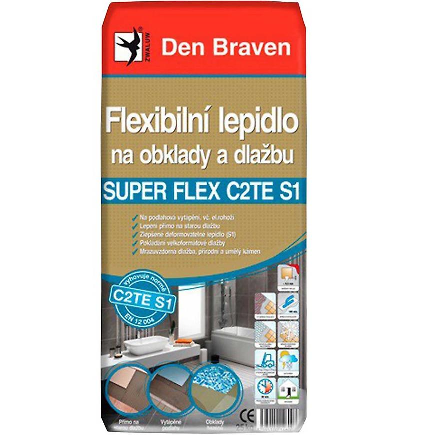 Den Braven Flexibilní lepidlo na obklady a dlažbu SUPER FLEX C2TES1 25 kg