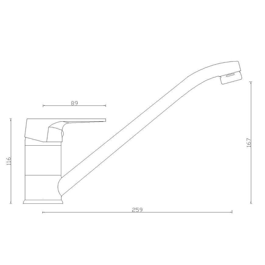 Baterie dřezová stojánková Sw-55000-q11 Kronos béžová