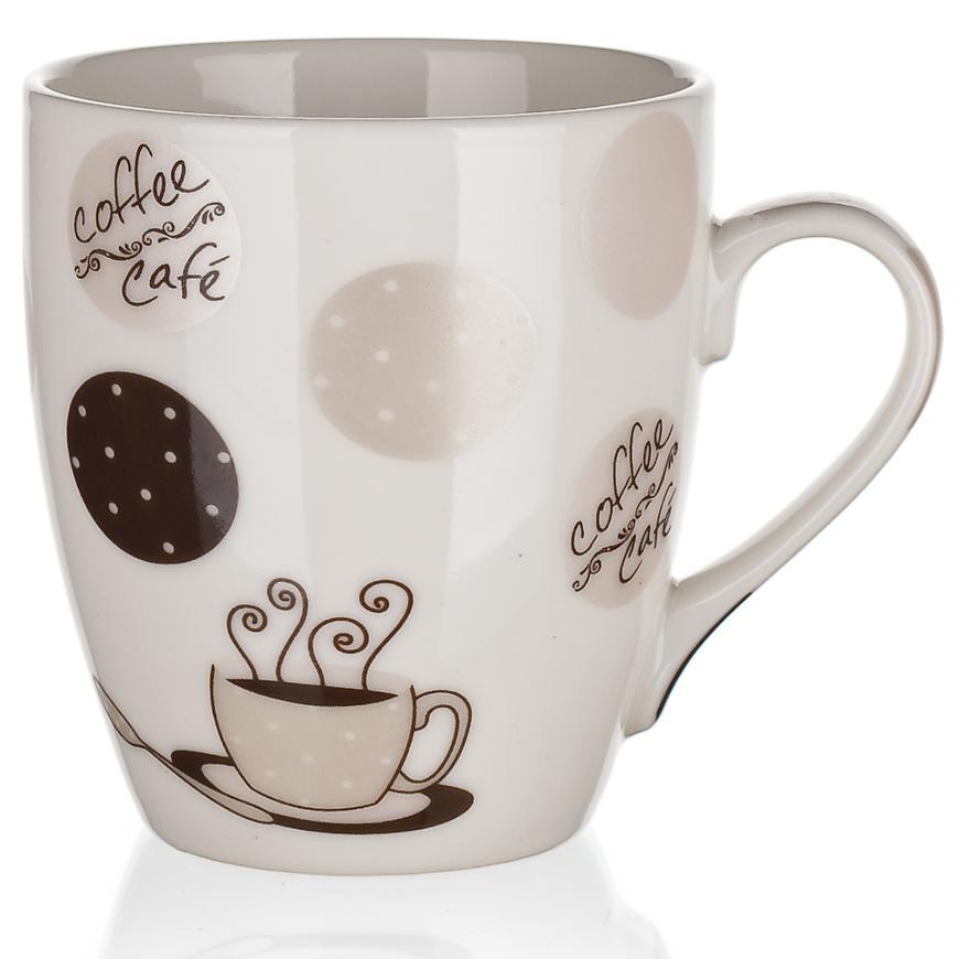 Hrnek keram. Cappuccino 240 ml bílá 60223076