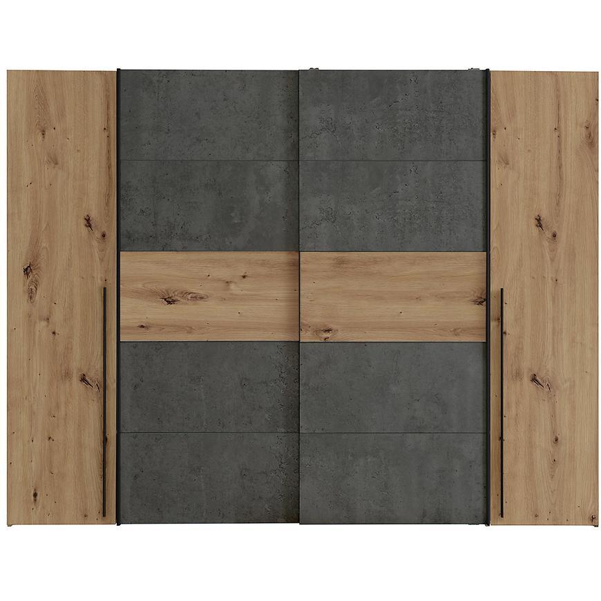 Skříň Narago 4 270cm Dub Artisan/Beton