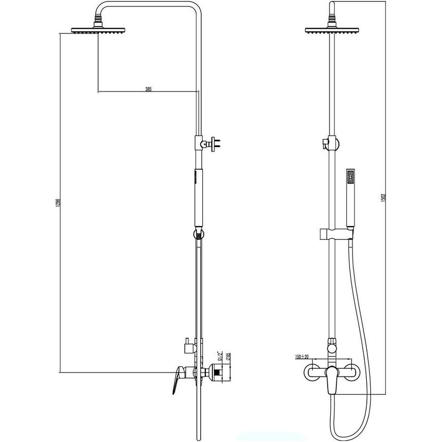 Sprchový set Xena AZ33R