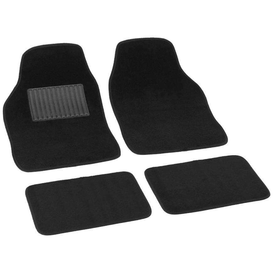 Bottari Koberce textilné soft černé 43x64, 41x29cm, 4ks