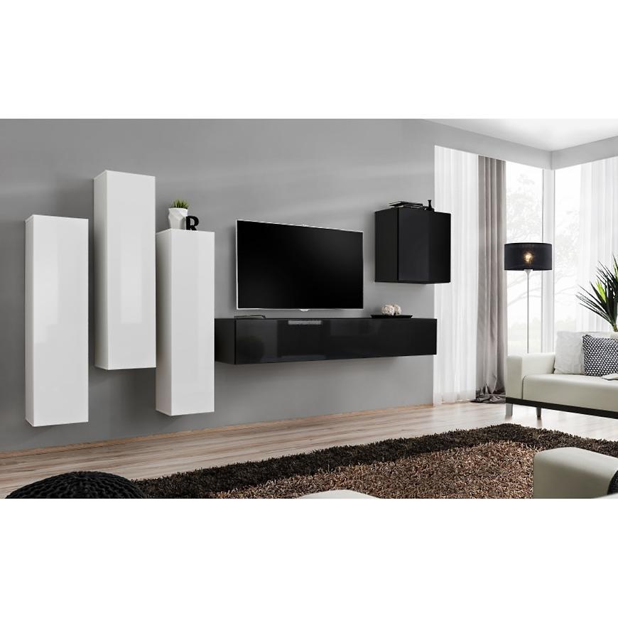 Obývací Stěna Switch III Bílý/Černá
