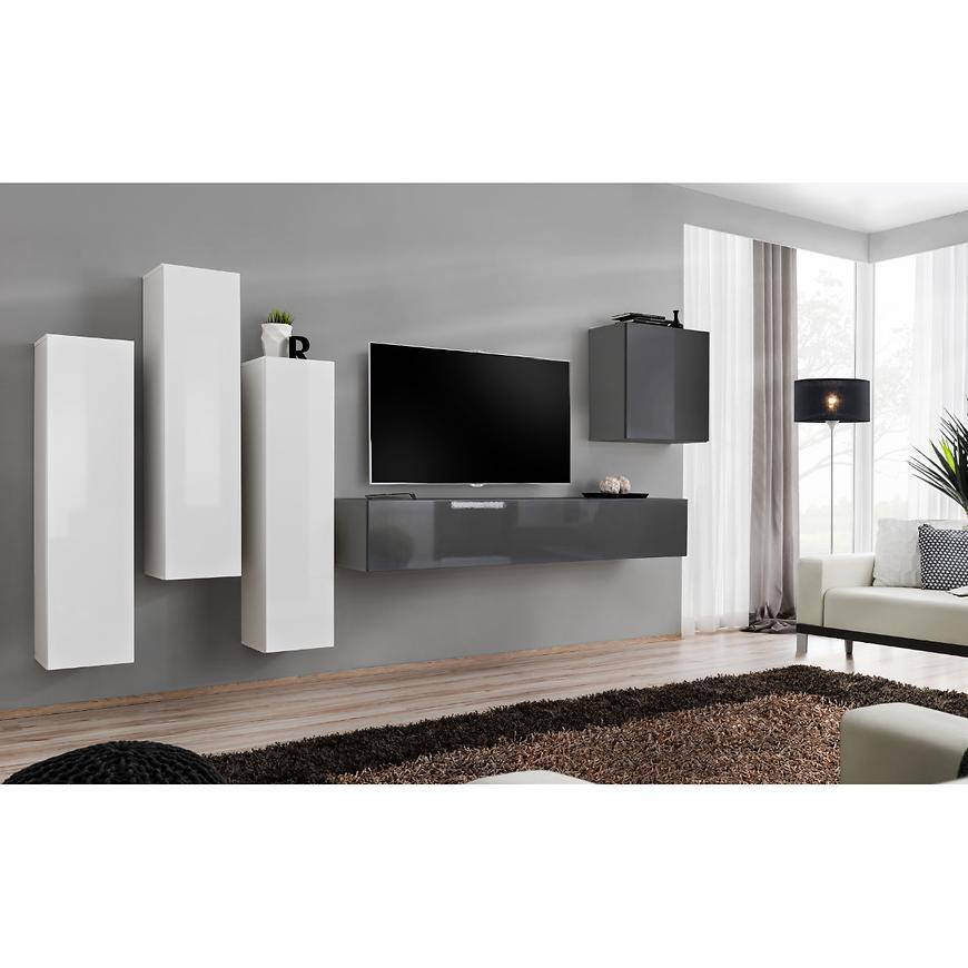 Obývací Stěna Switch III Bílý/Grafit