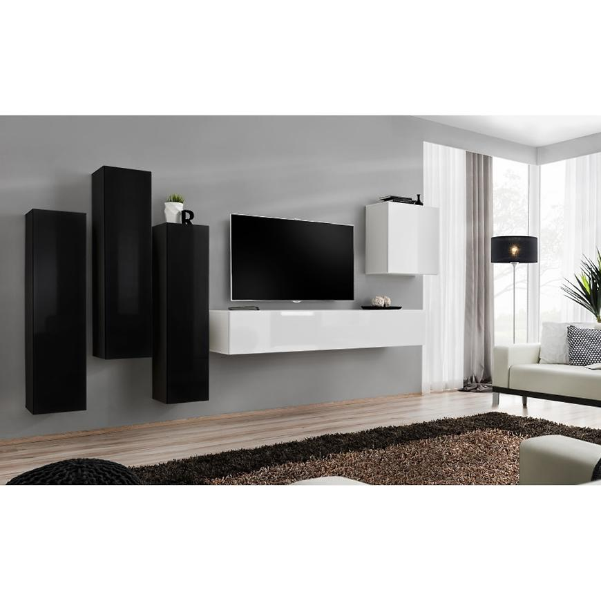 Obývací Stěna Switch III Černá/Bílý