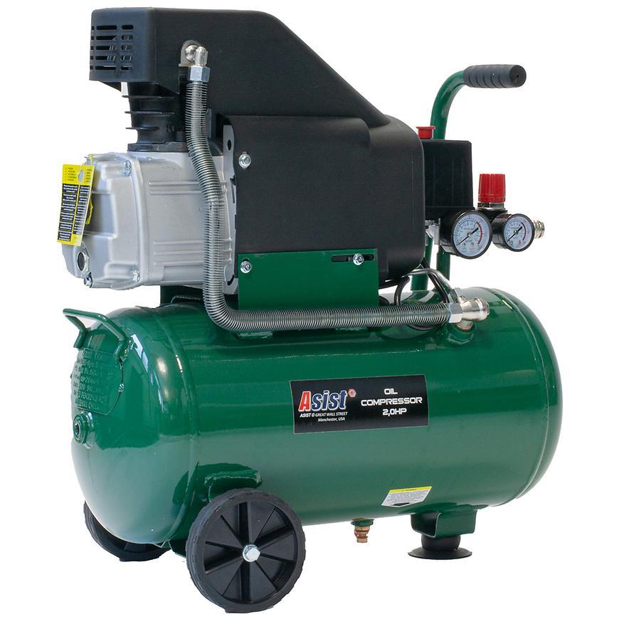 Kompresor olejový 24l asist s regulací tlaku. 2.0 HP