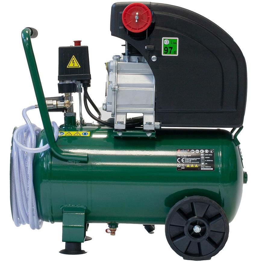 Kompresor olejový 24l Asist s 10m tlak. hadicí. 2.5 HP