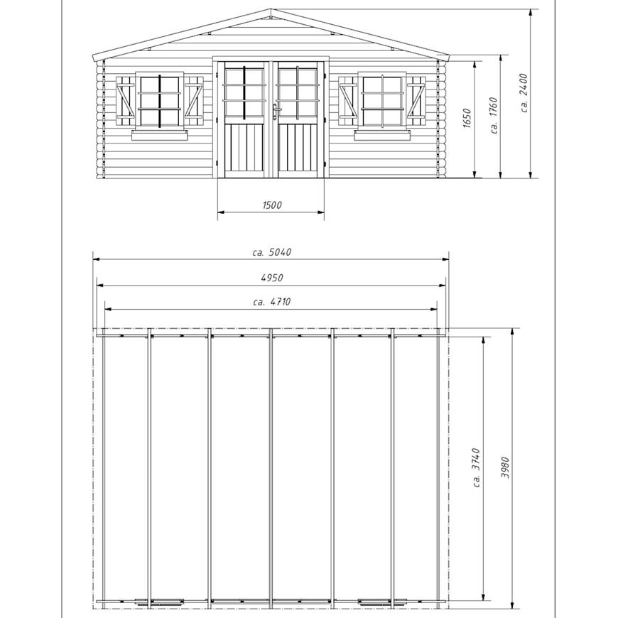 Zahradní domek 400x500