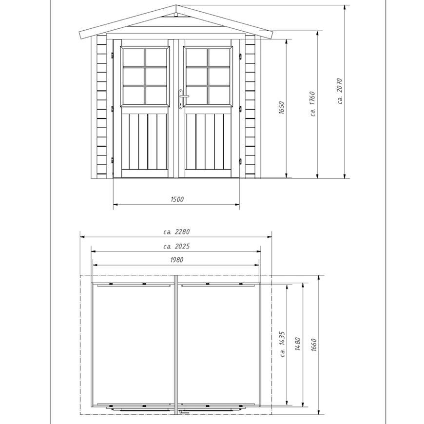 Zahradní domek 198x148