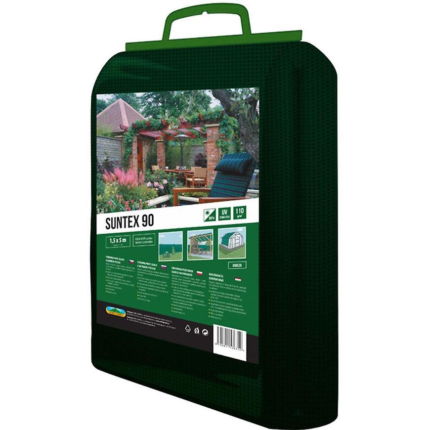 Stínovka PE suntex zelená 90% 1,56 x 5 m