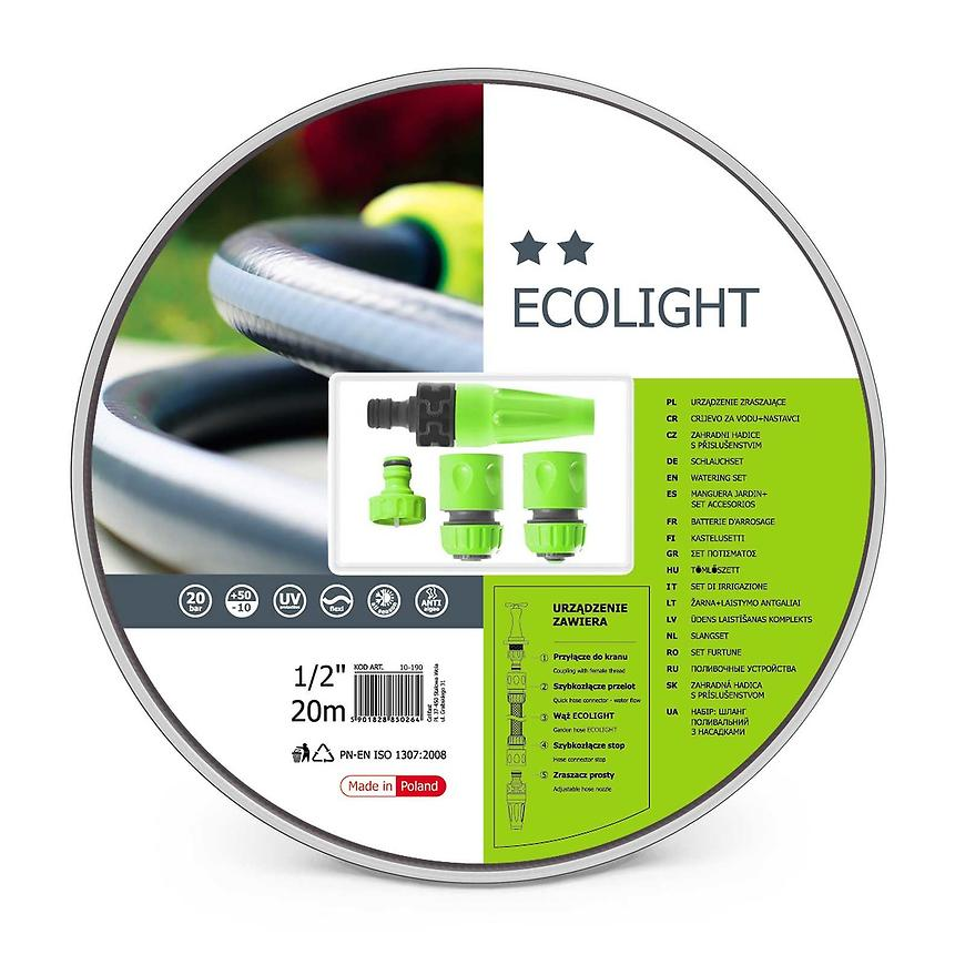 "Hadice sada Ecolight 1/2"" 20 mb+koncovký 1/2 10-190"