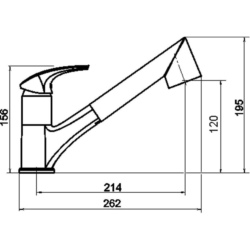 Baterie dřezová stojánková METALIA 57 57081