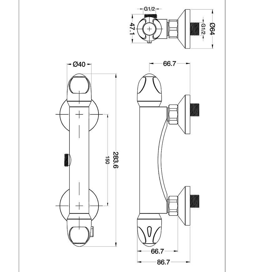 Baterie sprchová termostatická MROUGE