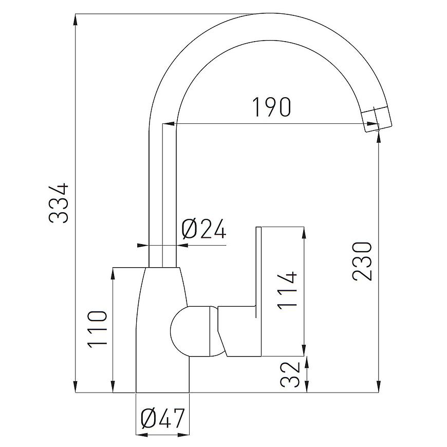Baterie dřezová stojánková Algeo, chrom