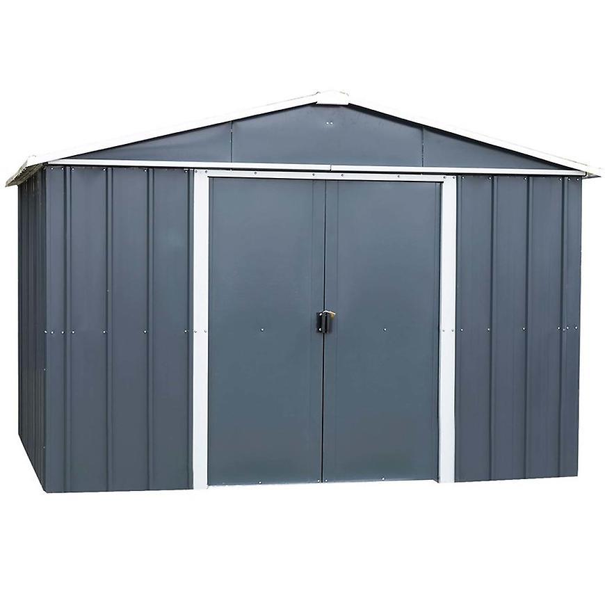 Kovový zahradní domek antracit 108aeyz 303 cm x 237 cm