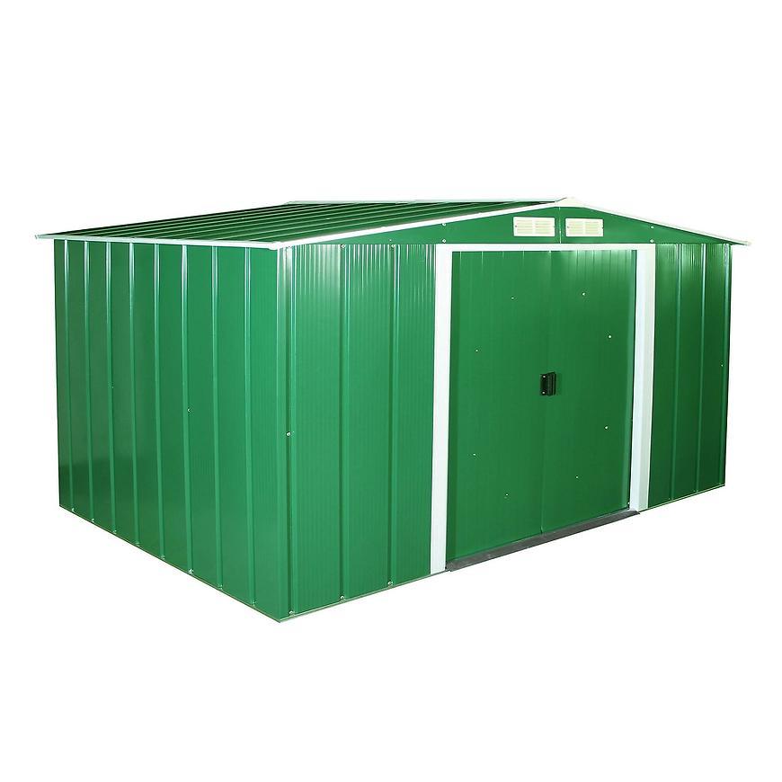 Eco kovový zahradní domek 2423x3221x1961 zelený