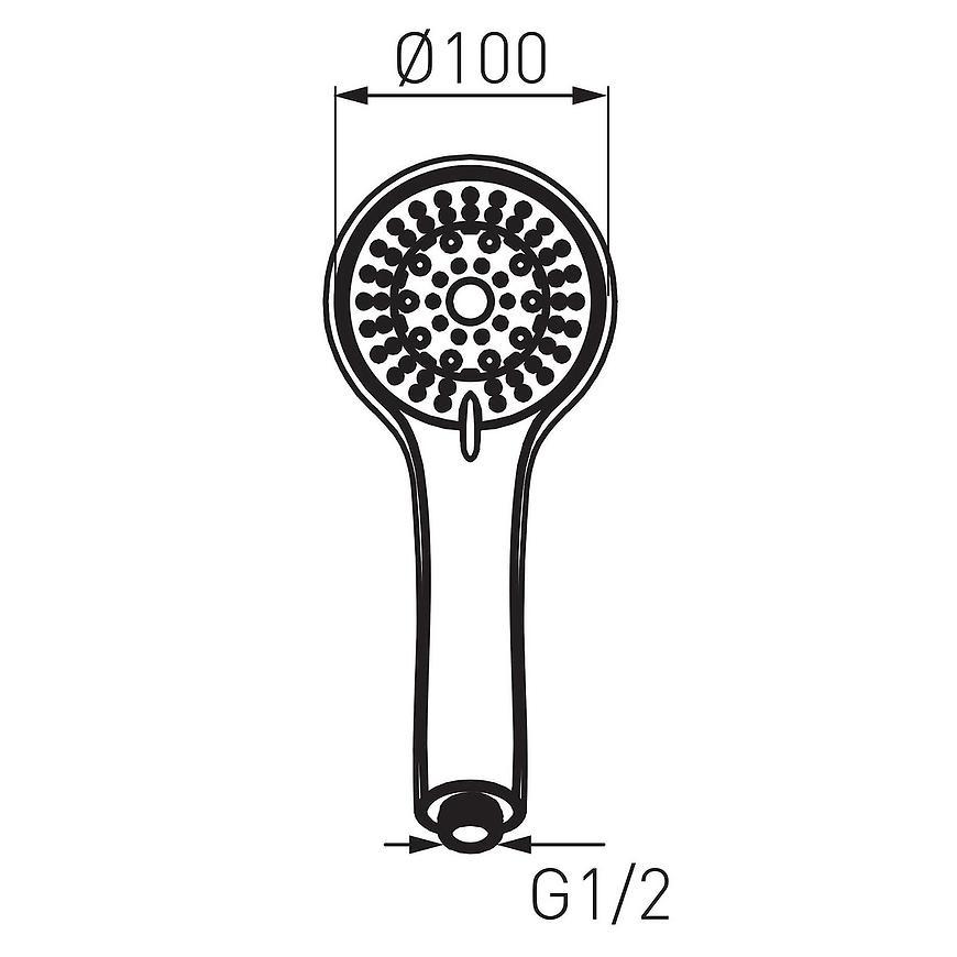 Sprchová hlavice S500 Sera sf