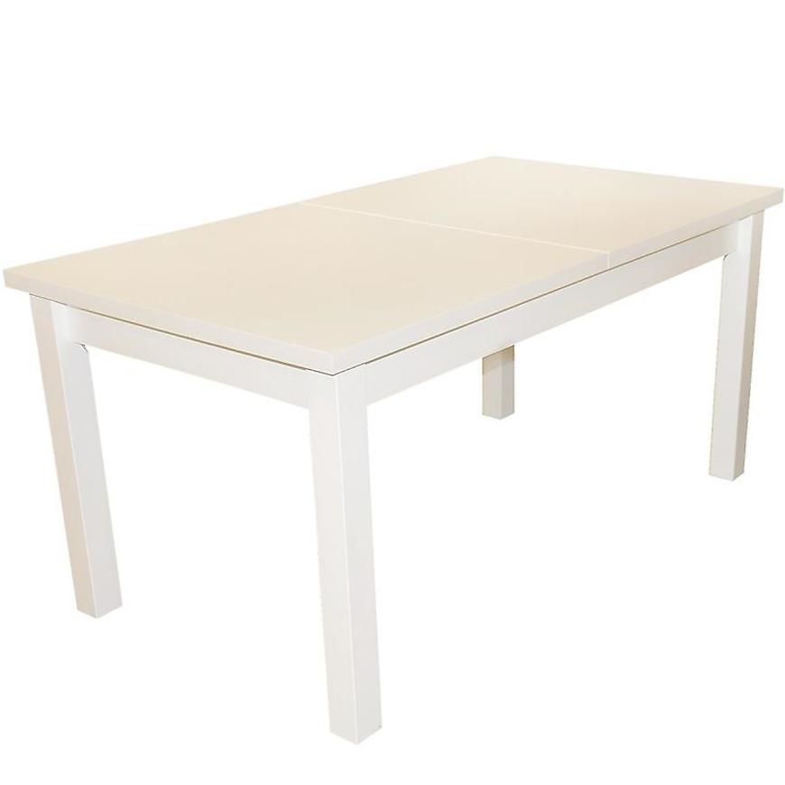 Stůl 160x90+40 Bílý