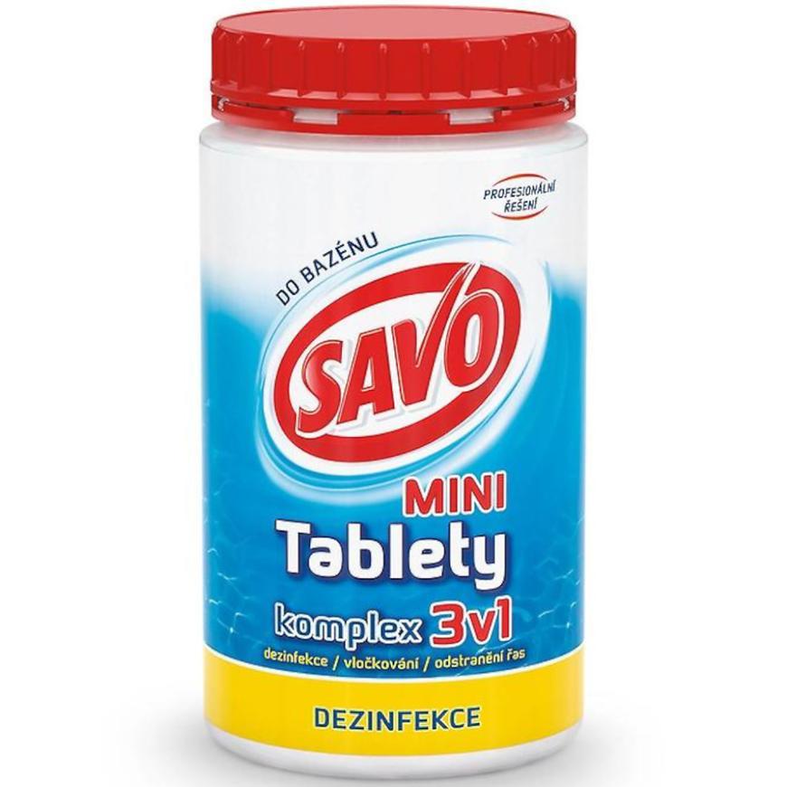 Savo do bazénu tablety mini komplex 3v1 0,8 kg