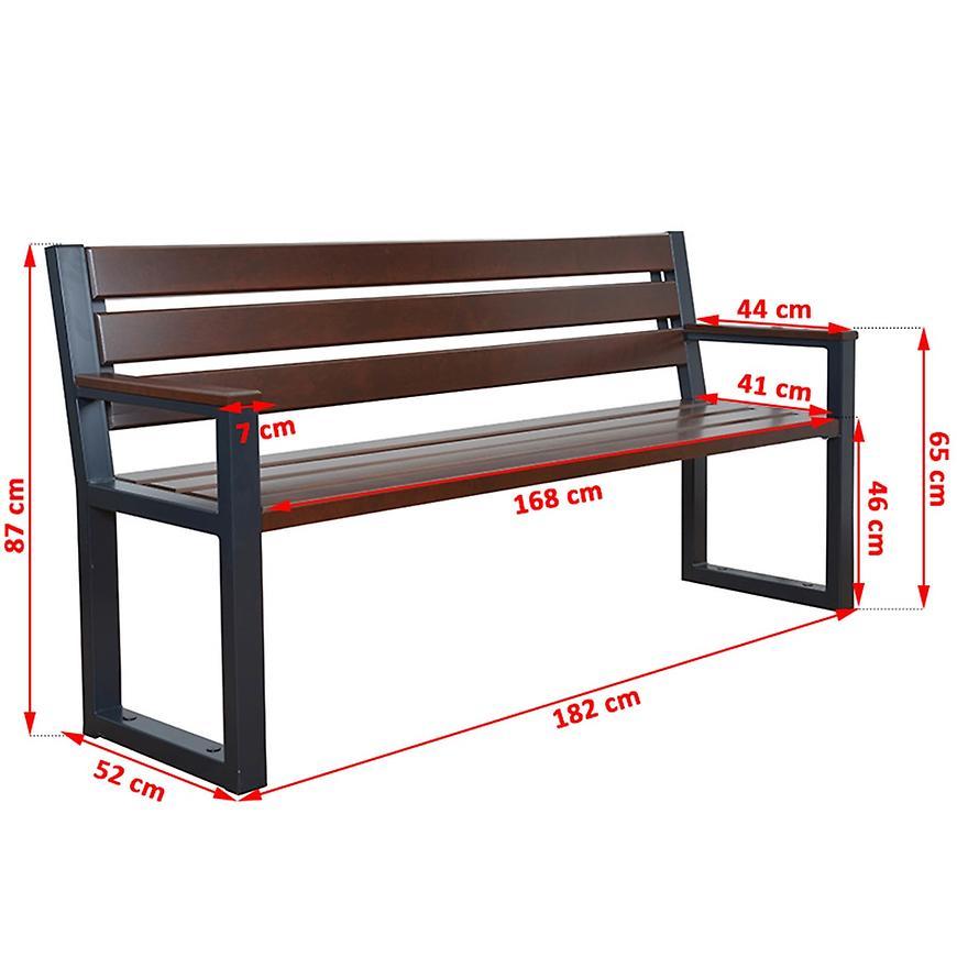 Moderní lavička palisandr