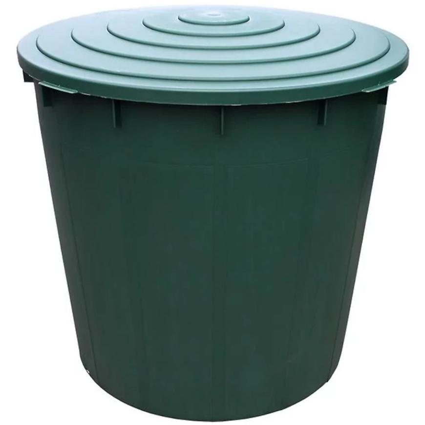 Barel s ventilem a víkem plastový zelený