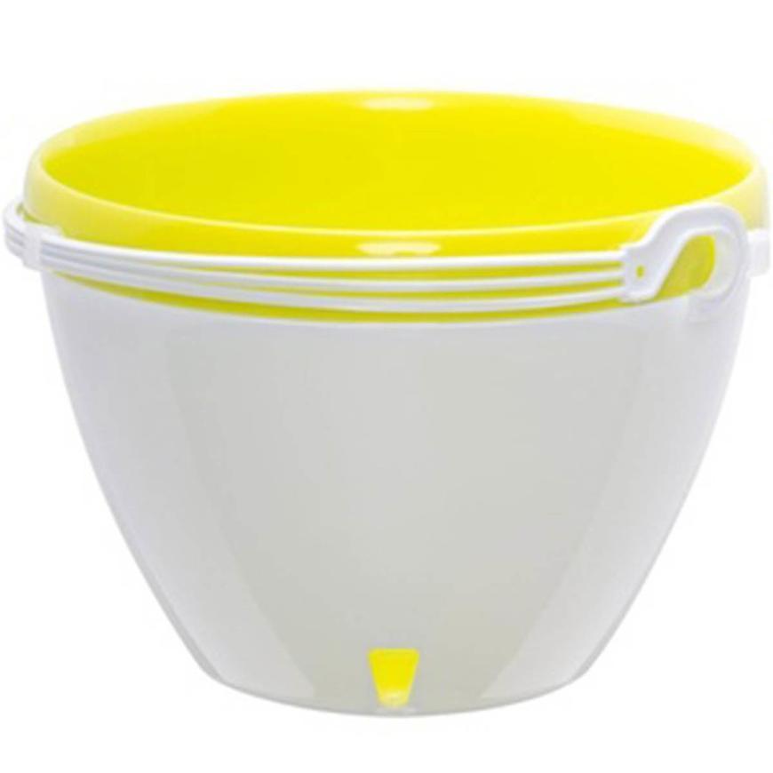 Samozavlažovací závěsný květináč Vista bílá/limetka ø 22cm – 3,8l