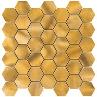 Mozaika gold hexagon 86542 30/30/0,8