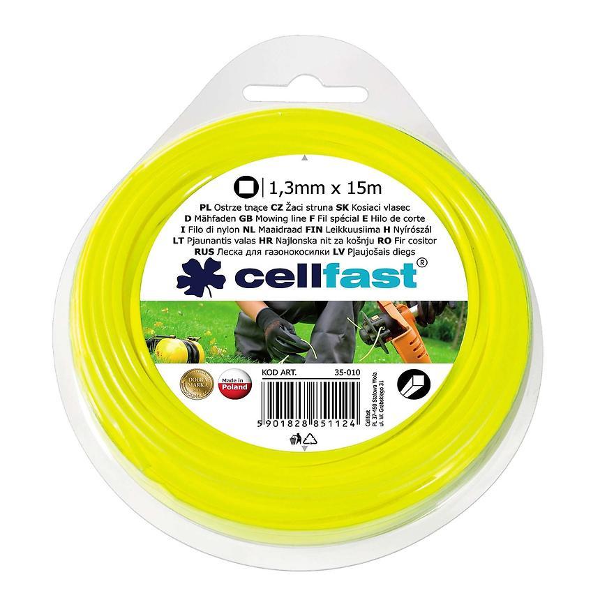 Žací struna do sekačky 1,3 mm, čtvercová
