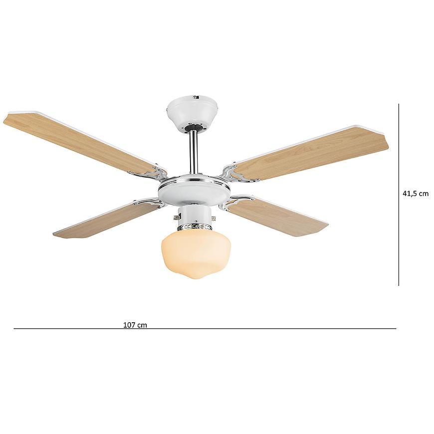 Stropní ventilátor s osvětlením 03300 pl1