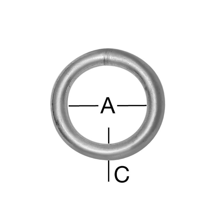 Kroužek 40x5mm zn 2ks