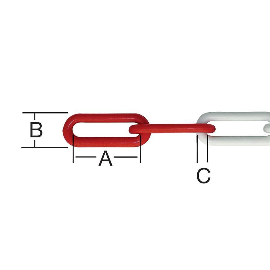 Řetěz plast č/b 6 mm 25 m