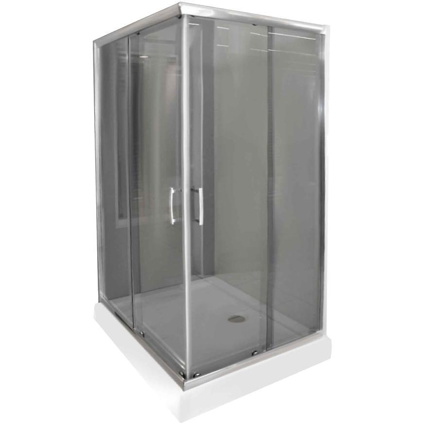 Sprchový kout čtvercový KN/TX5B 80/100 GY SB Glass protect