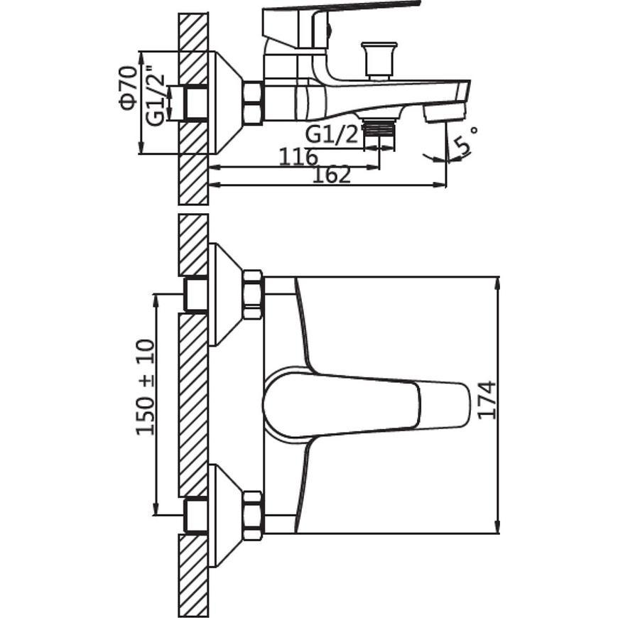 Baterie vanová Lima  HB101-BW
