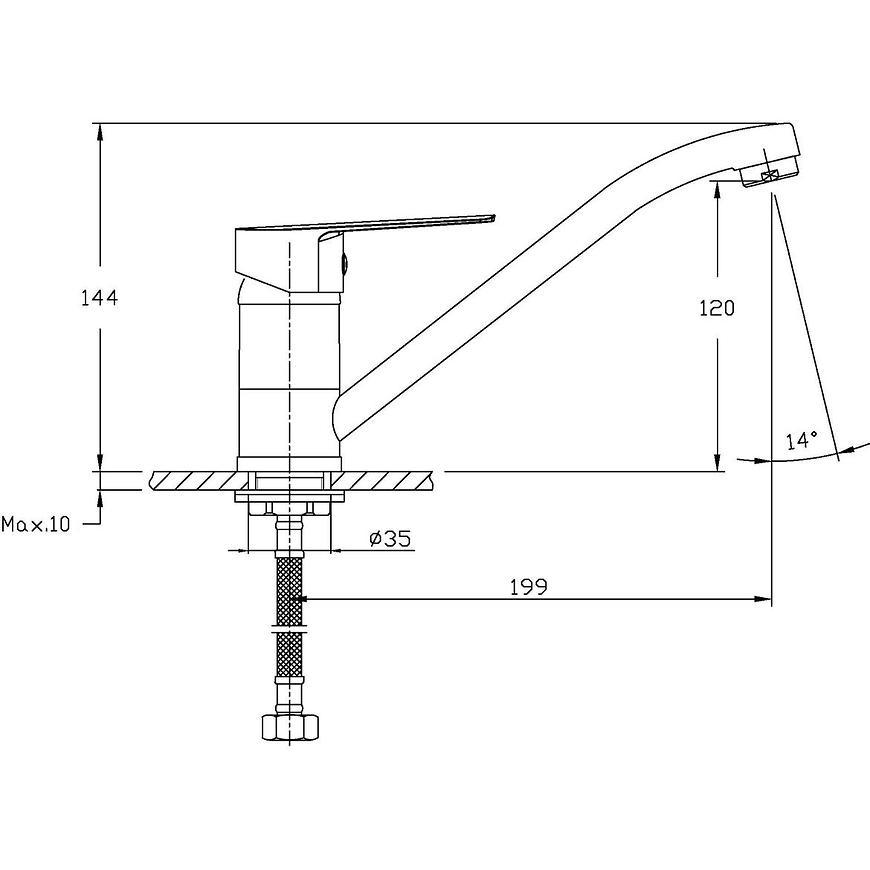 Baterie dřezová stojánková Lima HB101-BK
