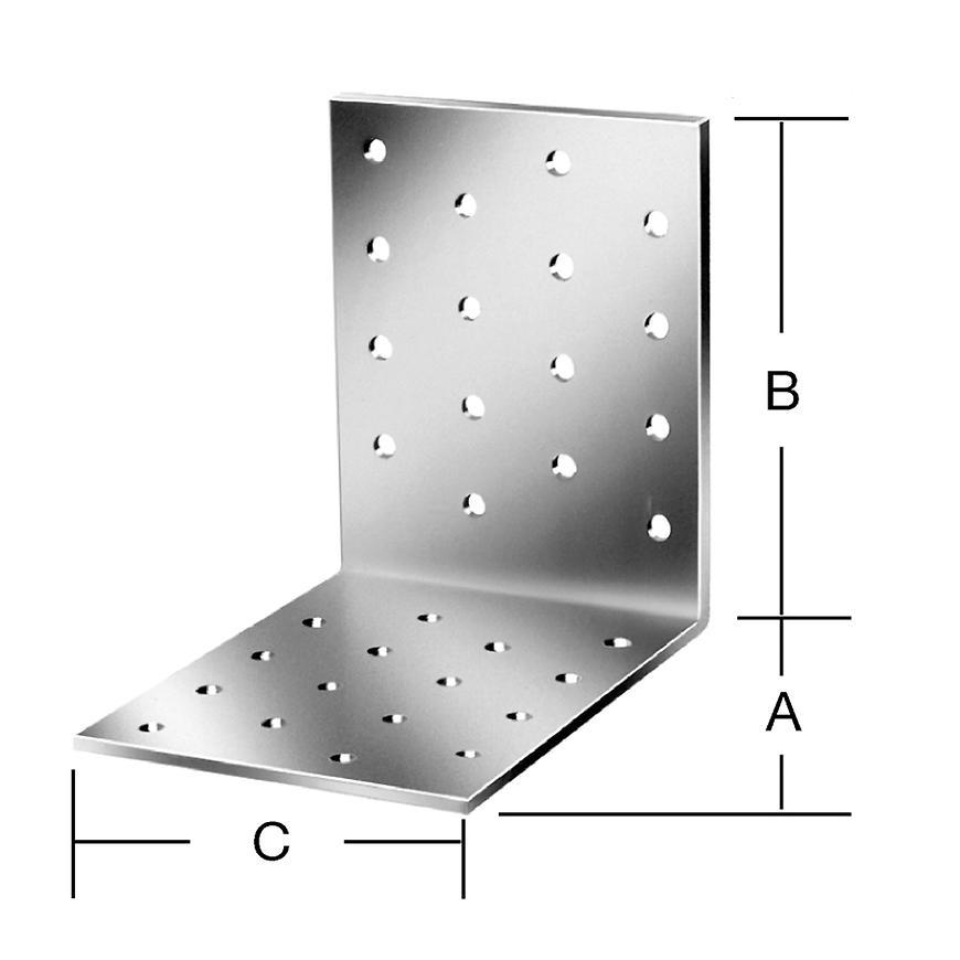 Úhelník děrovaný 80x80 zn