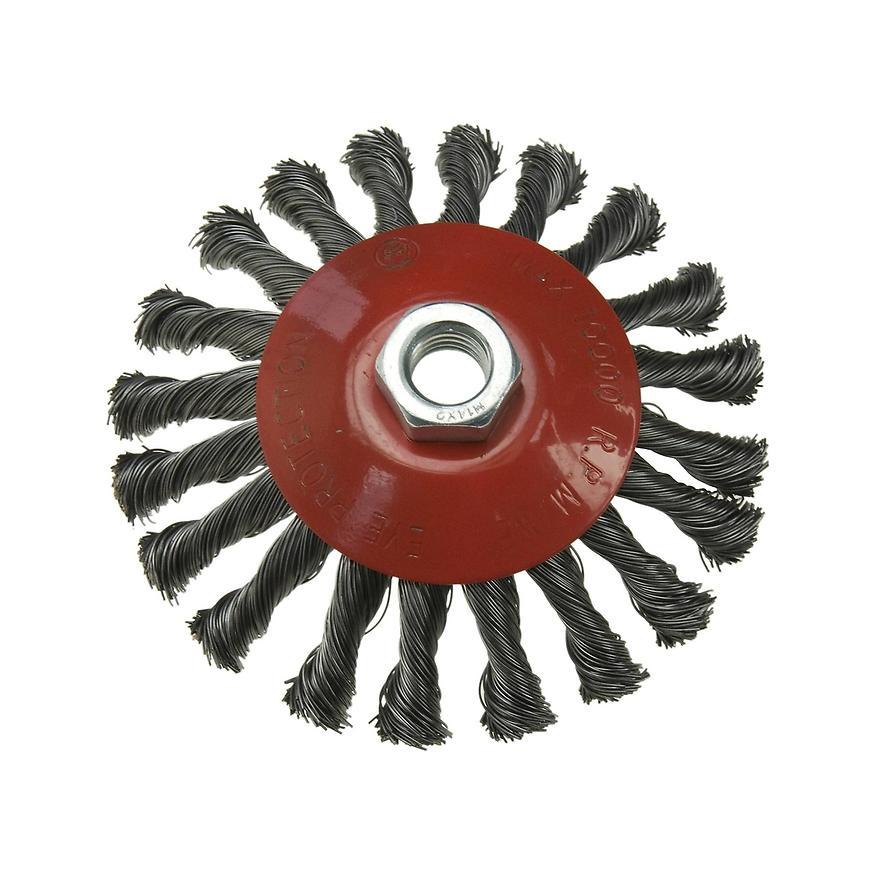 Drátěný kartáč, točený drát, 125 mm, M14, Condor
