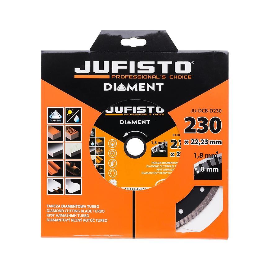Diamantový kotouč, turbo, 230 x 1,8 mm, Jufisto