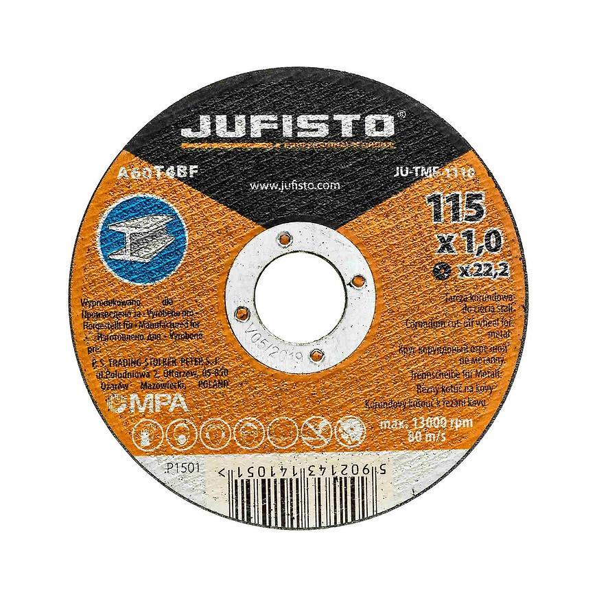 Řezný kotouč kov 115 x 1.0 mm, Jufisto
