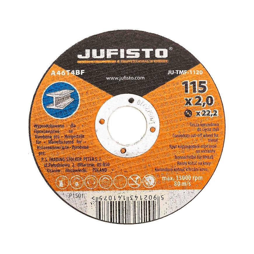 Řezný kotouč kov 115 x 2.0 mm, Jufisto