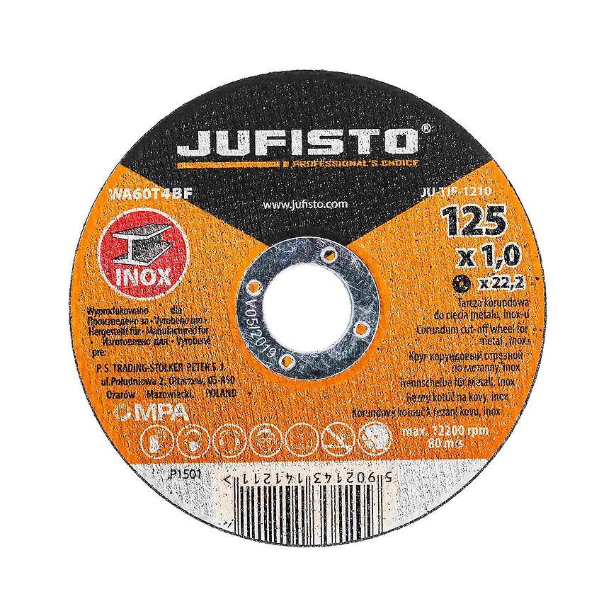 Řezný kotouč  nerez 125 x 1.0 mm, Jufisto