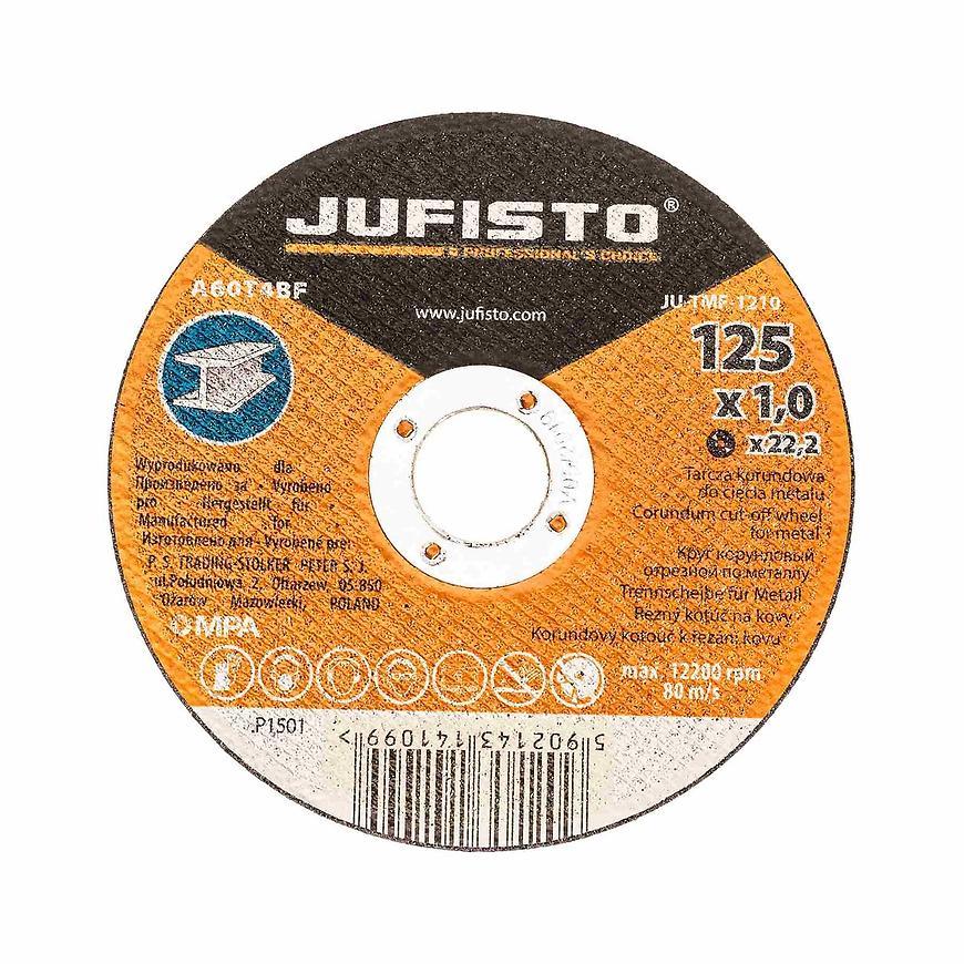 Řezný kotouč kov 125 x 1.0 mm, Jufisto