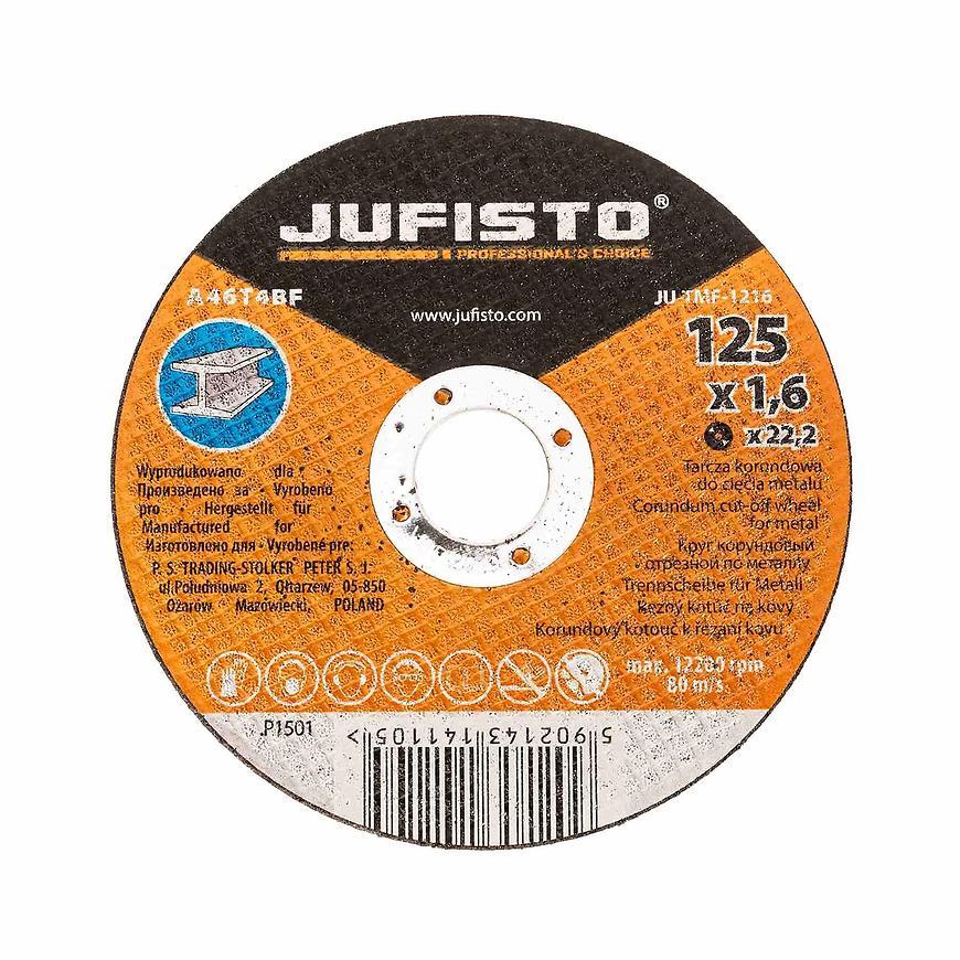 Řezný kotouč kov 125 x 1.6 mm, Jufisto