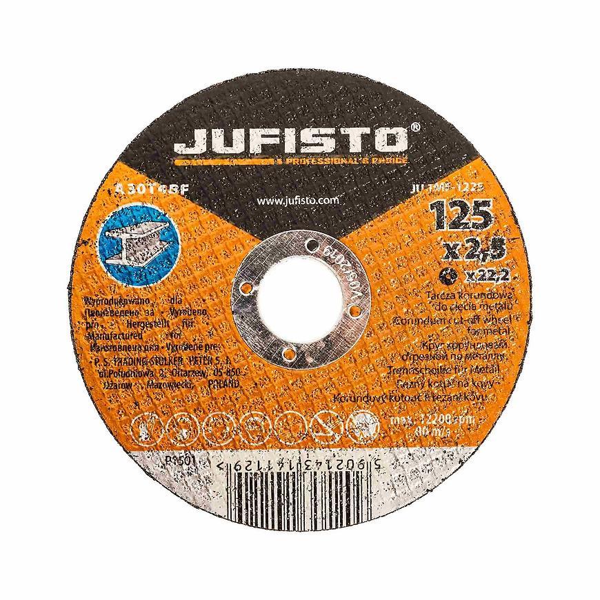 Řezný kotouč kov 125 x 2.5 mm, Jufisto