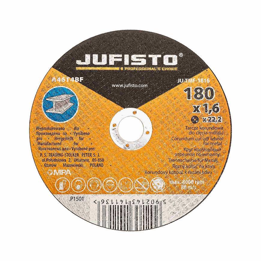 Řezný kotouč kov, 180 x 1.6 mm, Jufisto
