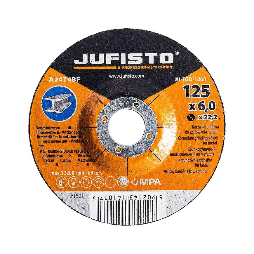 Brusný kotouč kov 125 x 6.0 mm, Jufisto