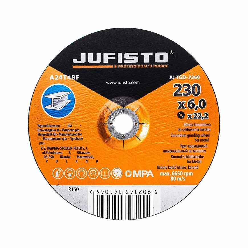Brusný kotouč kov 230 x 6.0 mm, Jufisto